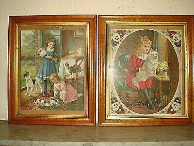 Pair of Victorian BirdsEye Maple Picture Frames,Two 19th Century,Antique Frames