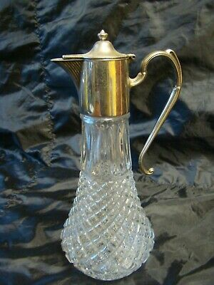 Vintage Silver Plated Claret Water Jug Decanter  England