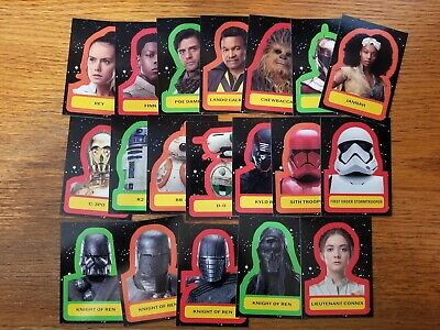 2019 Star Wars Journey to Rise of Skywalker Character Sticker Pick Your Card