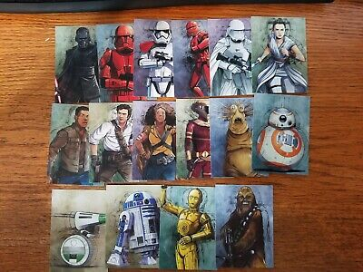 2019 Star Wars Journey to Rise of Skywalker Illustrated Character Pick Your Card