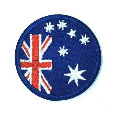 """Australian Aussie Flag~Embroidered Applique Patch~3 3//8/"""" x 2 3//4/""""~Iron Or Sew"""