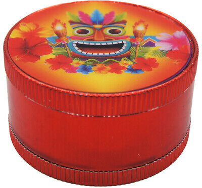 "2"" 4-Piece Weight Tiki Tobacco Herb Spice Grinder Tobacco Herb Spice Crusher TK2"