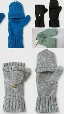 Womens Flip Top Gloves - A New Day - Various Colors Available - One Size
