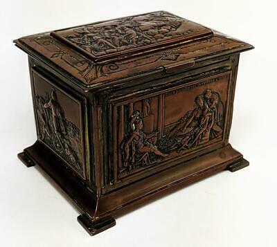 French Antique Roman Style Electrotype Casket / Box 19Th Century​