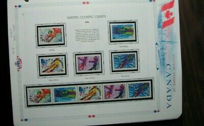 Canada Stamp Scott# 1399-1403,1403a Winter Olympic Games 1992  MNH L305