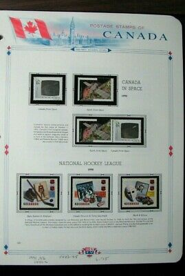 Canada Stamp Scott# 1441-42.1442a,1443-45   Space & Hockey League 1992  MNH L305