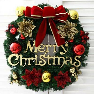 Christmas Wreath For Xmas Home Party Door Wall Flower Garland Ornaments Popular
