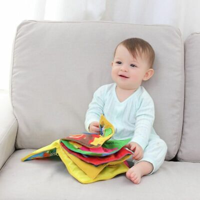 Kid Cloth Book Baby Stroller Cognition Squeak Toys Soft Infant Early Educational