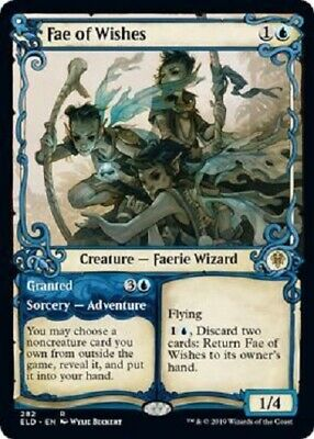 Fae of Wishes RARE alternate showcase Throne of Eldraine MTG Magic The Gathering