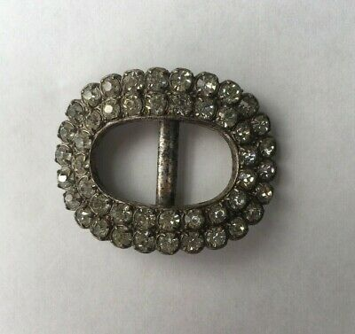 1960's Fake diamante vintage belt buckle small
