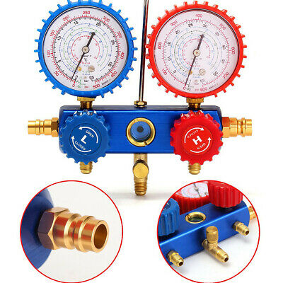 Air Conditioning Car With Hook Auto Quick Coupler Refrigerant Manifold Gauge Set
