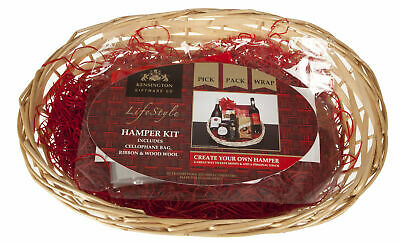 Create Your Own Christmas 30cm Medium Hamper With Cellophane, Filler & Bow