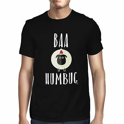 Baa Humbug White Sheep Bah Humbug Anti Christmas Mens T-Shirt
