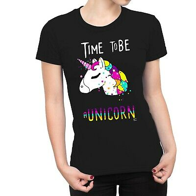 1Tee Womens Time To Be. A Unicorn Magical T-Shirt