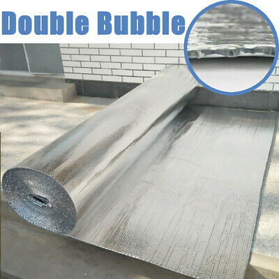 Double Insulation Warm Foil Air Bubble Silver Aluminum Roll Loft Shed Heat/Cool