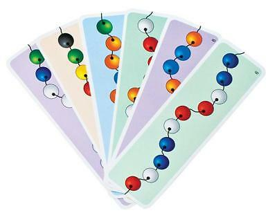 Beads Work Cards (10 piece) Learning Resource Threading Activity for Kids