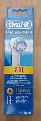 Genuine Braun Oral B Precision Clean Replacement Tooth Brush Heads x 8 n