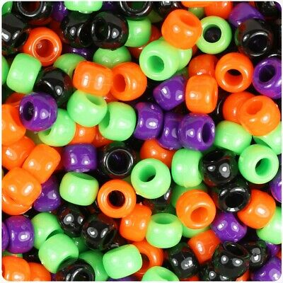 12 x 25mm Mixed COLOUR TRANSPORT pony beads IDEAL FOR DUMMY CLIPS