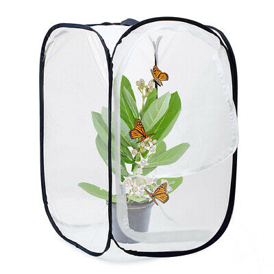 Insect and Butterfly Habitat Cage Terrarium Pop-up 23.6 Inches Tall (White D0G6