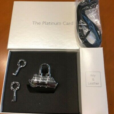 AMEX American Express Passenger ship-shaped Padlock Novelty for members Rare NEW