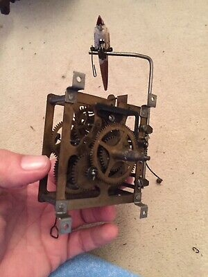 Vintage Vossler Clock Movement With Bird