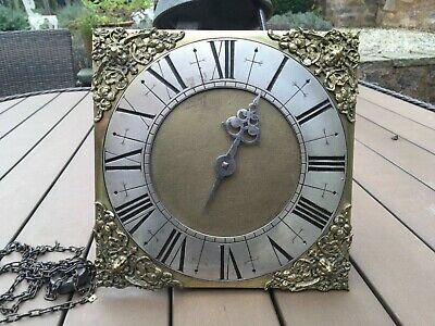 Early birdcage 30hr Longcase clock dial + movement