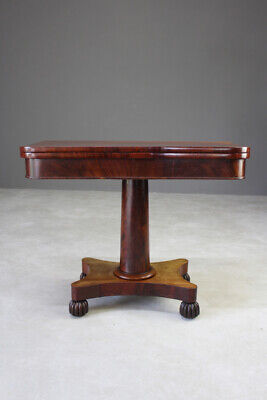Antique Mahogany Turn Over Card Games Occasional Side Table