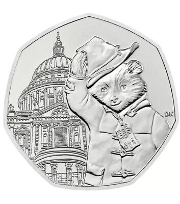 NEW UNCIRCULATED 2019 UK Paddington Bear 50p Coin - St. Paul's Cathedral RARE