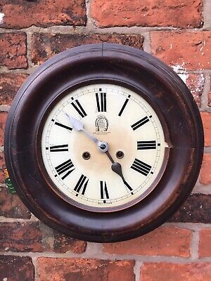 Antique Wall Clock Two Train