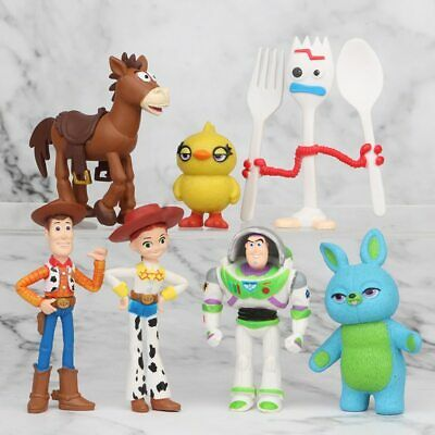 Disney Toy Story mini figures 4 Buzz Lightyear Woody Jessie Forky potato head