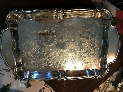 Oneida Silver Plated Rectangle Serving Tray