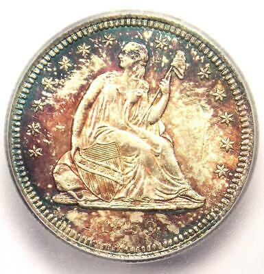 1859 Seated Liberty Quarter 25C Coin - Certified ICG MS60 Details (UNC)!