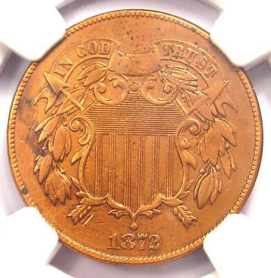 1872 Two Cent Coin 2C - Certified NGC XF Details (EF) - Rare Certified Coin!