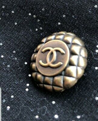 CC Chanel Gold Quilted High Quality Button 20 mm .8 inches RARE