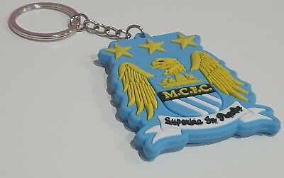 Manchester City FC Club Crest Keyring Key Ring Fan Keychain New Gift Xmas