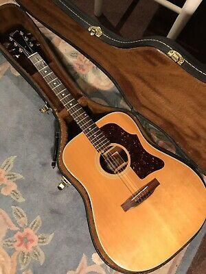 Vintage 1977 Gibson J-50 Deluxe Acoustic Guitar with Hard Case