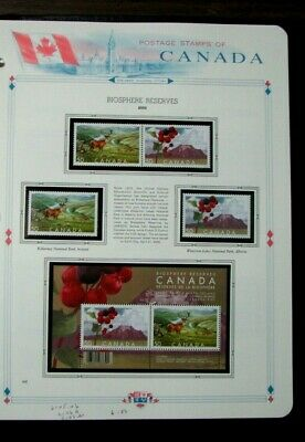 Canada Stamp Scott#  2105-06,2106a,2106b  Biosphere Reserves  2005  MNH L306