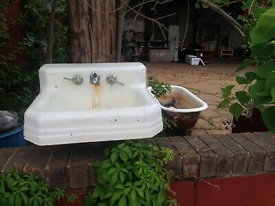 White Porcelain Sink as is prop / YOU CAN HAVE IT ALL + the Bathroom Sink !?