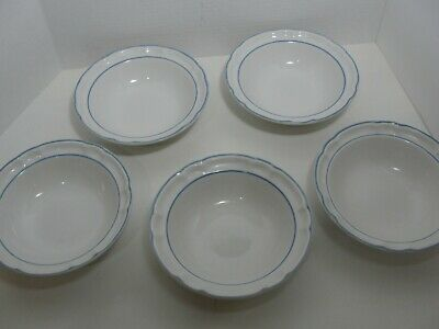 Floral Expressions Stoneware Set of 5 Cereal Bowls Japan EUC
