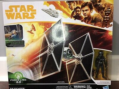 Disney Star Wars Force Link 2.0 Tie Fighter With Tie Fighter Pilot New