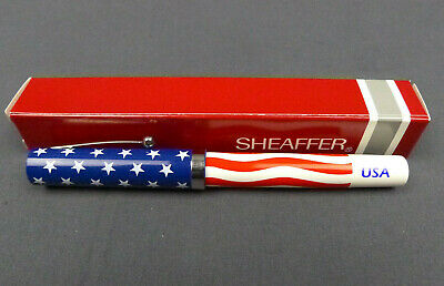 Sheaffer USA Stars and Stripes No Nonsense Vintage Line Ballpoint Pen NOS