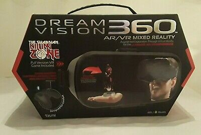 Tzumi Dream Vision 360 Mixed Reality VR Headset Game Controller Headphones Full