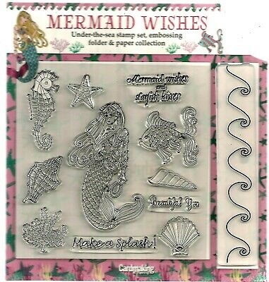 Mermaid Wishes Stamps  &  4 Papers Set