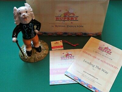 "Pong Ping ""Leading the Way"" Rupert Bear Royal Doulton Figurine Boxed"