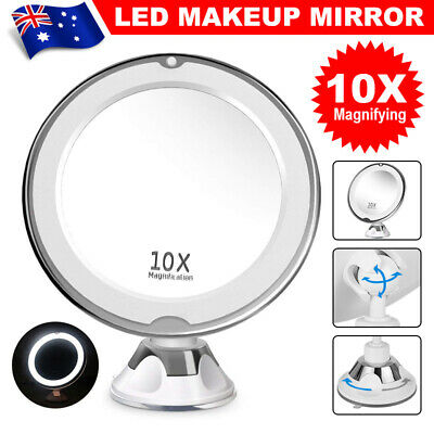 10x Magnifying Makeup Vanity Cosmetic Beauty Bathroom Mirror w/ LED Light Table