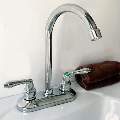 Modern Chrome Cold Hot Water Basin Faucet Double Sink Mixer Tap Bathroom Kitchen