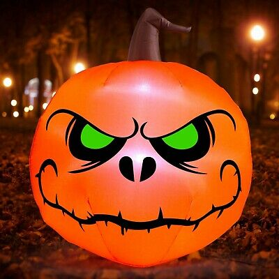 4 Ft Halloween Inflatable Lighted Pumpkin Decoration Outdoor Yard Airblown Decor
