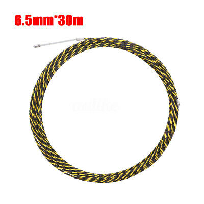 1Pcs 6.5mm*30m Cable Push Puller Conduit Snake Rodder Fish Tape Wire Guide