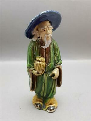 Antique 19Th Century Qing Dynasty Chinese Shiwan Clay Mudman Figure 1890-1919