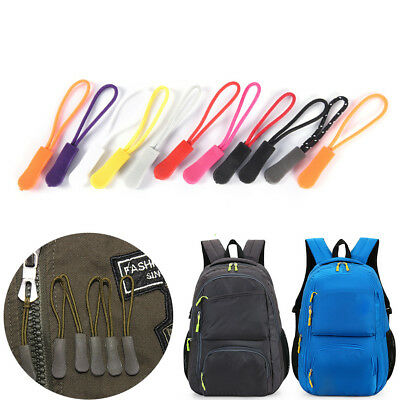 10PCS Zipper Pulls Cord Rope Ends Lock Zip Clip Buckle for Clothing Bags 、20SY
